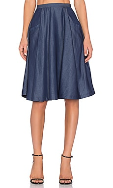 VIVIAN CHAN Mia Skirt in Brewing Blue