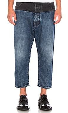 Vivienne Westwood Samurai Crop Jeans in Blue Denim