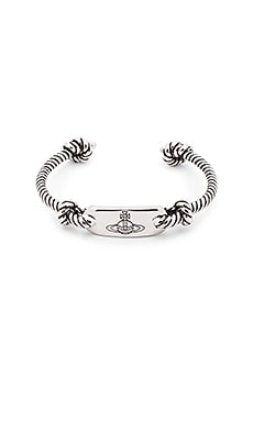 Vivienne Westwood Venicius Open Bangle in Antique Rhodium