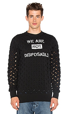 Vivienne Westwood We Are Not Disposable Sweatshirt in Black