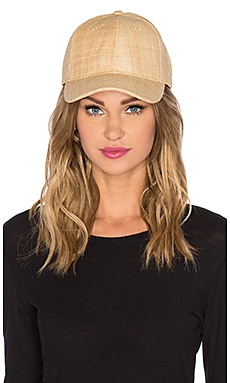 Vix Swimwear Straw Baseball Hat in Tan