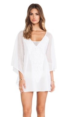 Vix Swimwear Sami Caftan in Solid White