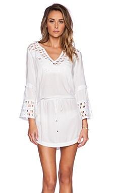 Vix Swimwear Daisy Caftan in Solid White