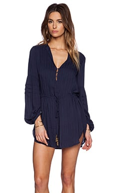 Vix Swimwear Paris Tunic in Indigo Blue
