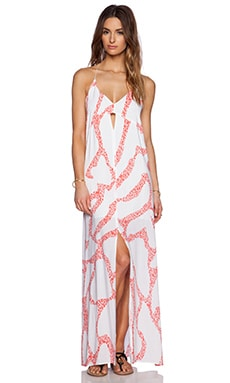 Vix Swimwear Nora Maxi Dress in Coral