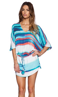 Vix Swimwear Kay Mini Dress in Al Mare