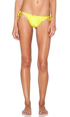 Vix Swimwear Ripple Tie Side Bikini Bottom in Acid