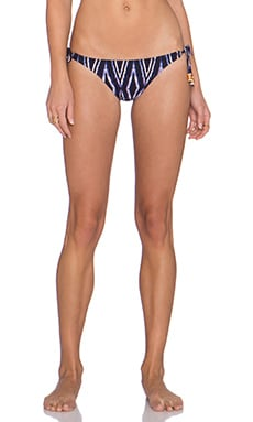 Vix Swimwear Tie Bikini Bottom in Moorish