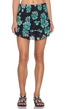 SOFIA by Vix Swimwear Floral Skirt in Bardot