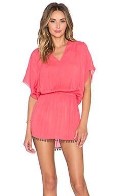 Sofia by Vix Swimwear Calif V Caftan in Blush Pink