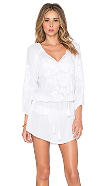 Vix Swimwear Amy Caftan in White