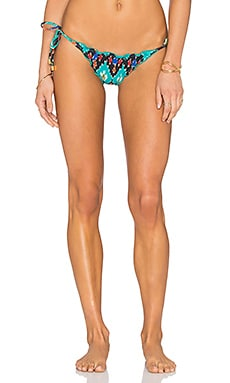 Vix Swimwear Ripple Bikini Bottom in Rumis