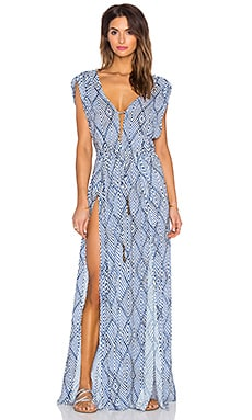 Vix Swimwear Agatha Long Caftan in Razi