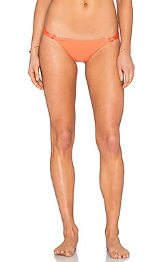 Vix Swimwear Knot Bikin Bottom in Solid Peach