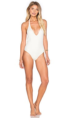 Vix Swimwear Ice One Piece in Solid Off White