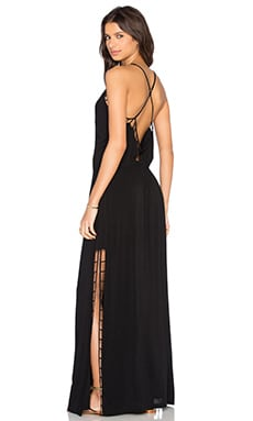 Vix Swimwear Lud Maxi Dress in Solid Black
