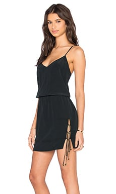 Vix Swimwear Nick Dress in Solid Black