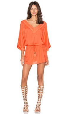 Vix Swimwear Romance Caftan in Solid Peach