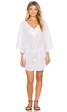 Vix Swimwear Romance Caftan in Solid White