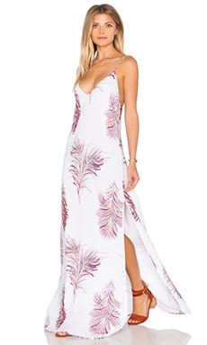 Milos Maxi Dress in Krishna White