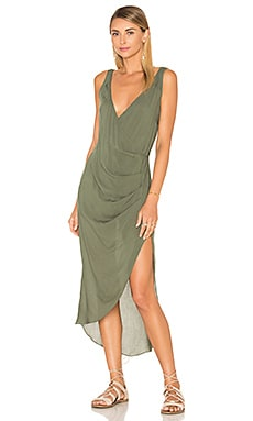 Vix Swimwear Kristin Caftan in Solid Military
