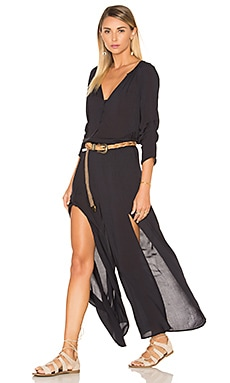 Vix Swimwear Rebeca Jumpsuit in Solid Black