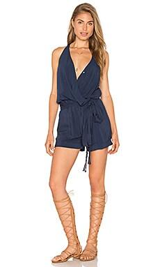 Vix Swimwear Layla Romper in Solid Indigo