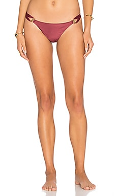 Solid Thai Bikini Bottom in Burgundy
