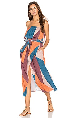 Ananda Strapless Dress in Multi