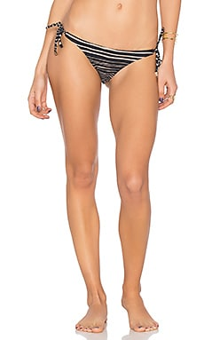 Lanai Long Tie Bikini Bottom in Black