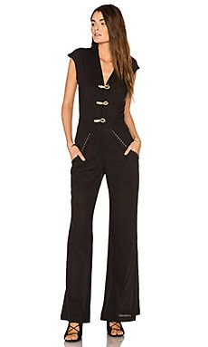 Solid Flaire Jumpsuit in Black