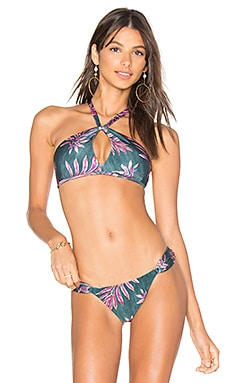 Leaves Knot Halter Top in Multi