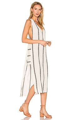 Stripe Luanna Caftan in White