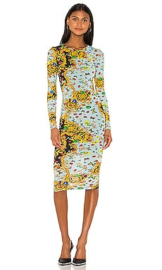 Long Sleeve Lady Dress Versace Jeans Couture $325