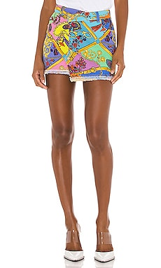 Paisley Mini Skirt Versace Jeans Couture $375 Collections