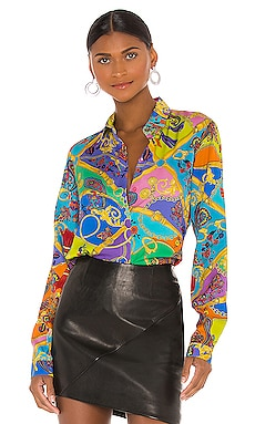 БЛУЗКА PAISLEY Versace Jeans Couture $375