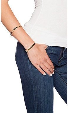 Vanessa Mooney The Riot Double Cuff Bracelet in Gold
