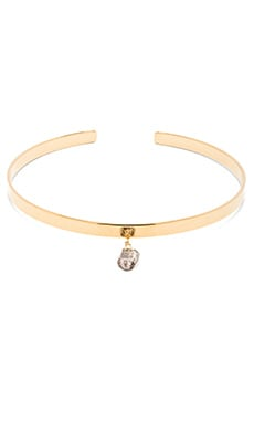 Vanessa Mooney The Addison Diamond Choker in Gold