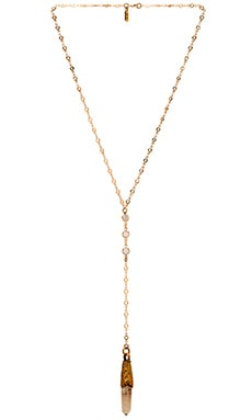 Vanessa Mooney The Adelaine Rosary Necklace in Gold