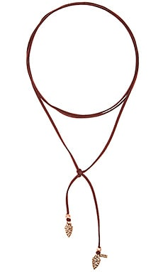 Arrowhead Wrap Choker in Burgundy