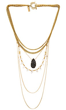 Vanessa Mooney The Taft Statement Necklace in Gold
