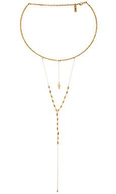 Vanessa Mooney Lovers Lane Choker Necklace in Gold