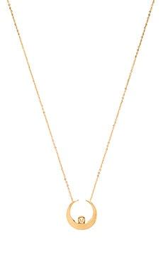 Vanessa Mooney The Sadi Crescent Moon Necklace in Gold