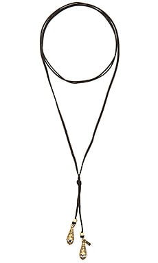 Vanessa Mooney Bolo Teardrop Necklace in Brass