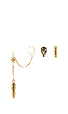 Zeppelin Earring Set in Gold
