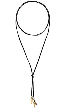 Vanessa Mooney Bolo Arrow Necklace in Gold