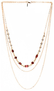 Vanessa Mooney Elta Garnet Chain Choker in Gold