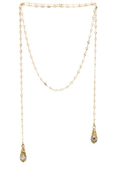 Vanessa Mooney Venus Wrap Crystal Necklace in Gold