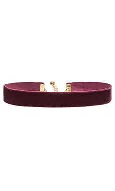 Vanessa Mooney Velvet Choker in Magenta