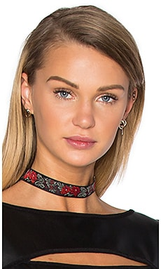 Vanessa Mooney Ribbon Choker in Rose